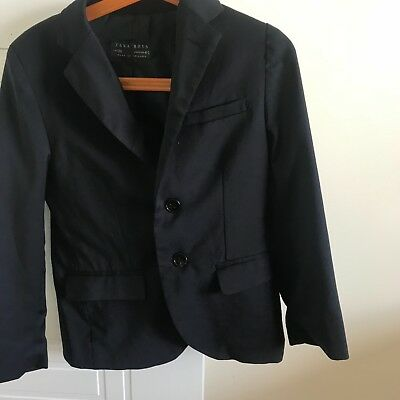 zara suit jacket for boys, dark blue, size 4-5, 110, excellent condition