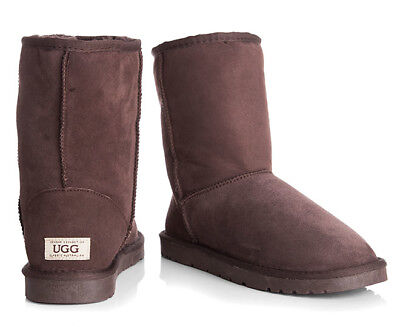 OZWEAR Connection Unisex Classic 3/4 Ugg Boot - Chocolate (S337)