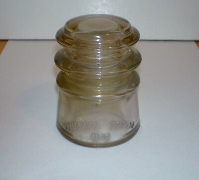 Vintage WHITALL TATUM No. 3 Glass Insulator - Clear Color