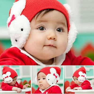 Autumn Winter Baby Girls Beanie Hat Double Rabbit For Keep Ear Warm Winter Cap