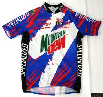 Vtg Aussie Mountain Dew Specialized Cycling Jersey LARGE 90s Rock Shox  Shimano L ecc579071