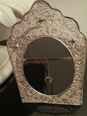 "Vintage Persian Iran Silver .84 ""malileh"" Style Hand Made Picture Frame"