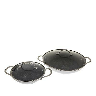 """Curtis Stone DuraPan Nonstick 8"""" and 12"""" Sauteuse Pans"""