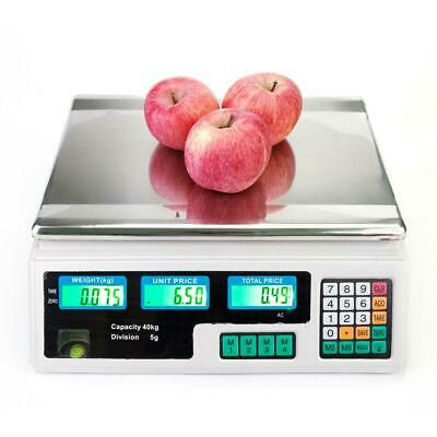 Digital Electronic Price Computing Kitchen Fruits Scale 40Kg Food Meat Produce