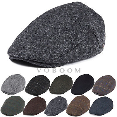 ba1e889c2 WOOL BLEND IVY Cap Mens Tweed Herringbone Winter Hat Warm Newsboy Cap Gatsby
