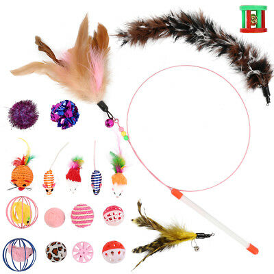 Sweet Pete Cat Toys Variety Pack 20 pezzi assortiti con Cat Wand Feather Chaser