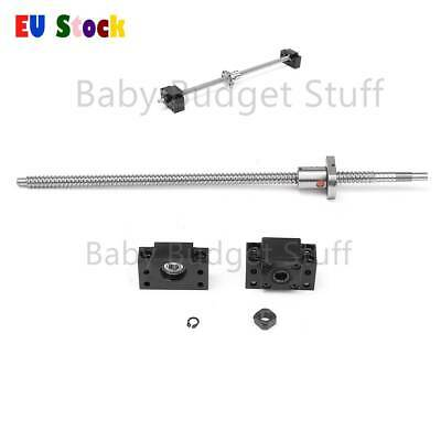 12mm SFU1204 Ball Screw Length 400mm With Ball Nut And BF/BK10 End Support
