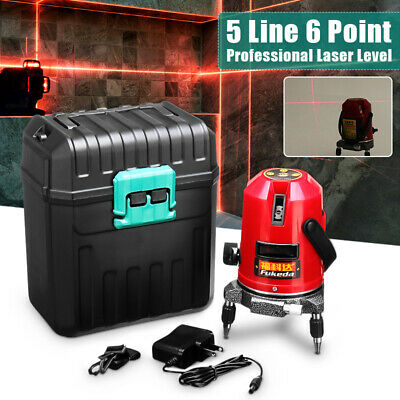 Automatic Self Leveling Rotary Laser Level 5 Line 6 Point 4V1H Measure Red Beam