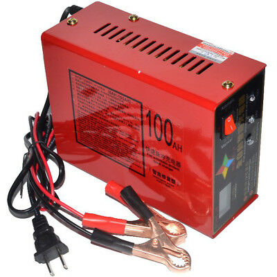 Automatic Intelligent Battery Charger For Car Motorcycle 12V/24V Pulse Repair AU