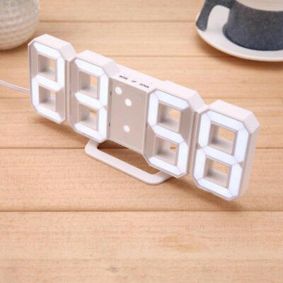 Clock Desk Watches 24 or 12 Hour Display White With USB Power Cable Digital LED