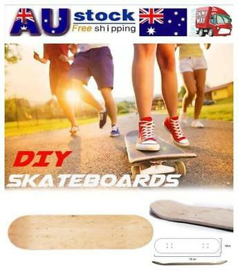 Maple Blank Double Concave Skateboards Natural Skate Deck Board 8inch 8-Layer AU
