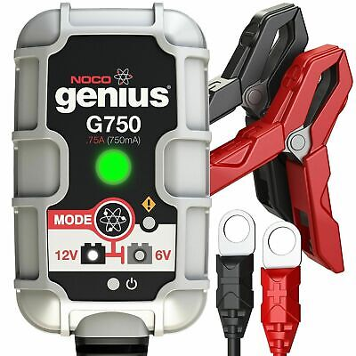 NOCO GENIUS BATTERY CHARGER G750UK 6/12V 0.75amp BIKE TRICKLE CHARGER