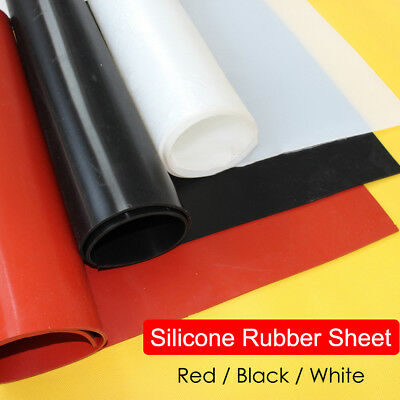 Black/White/Red Silicone Rubber Sheet Plate Mat 1/ 2/ 3/ 4/ 5/6mm A2 A3 A4 A5 A6
