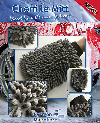 Car Wash & Shampoo Mitt. Microfibre Chenille. Pack of 10 GREAT VALUE just £19.95