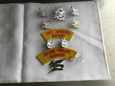 Australian Army Armoured And Cavalry Regiments Mixed Lot Badges And Patches