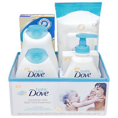 Set of 6 Pieces Baby Dove Complete Care Bath Time Essentials Toddler Gift Set