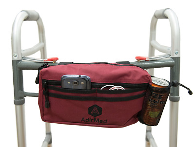 Wheelchair Pouch Rollator Walker Bicycle Scooter Storage Bag Mesh Cup Holder New