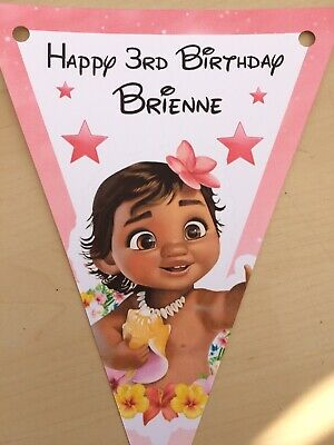 Handmade Personalised Baby Moana bunting / party decoration / birthday