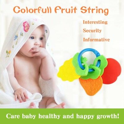 Baby Teething Teethers Toy Dental Natural Infant Chew Training Safe Silicone USA