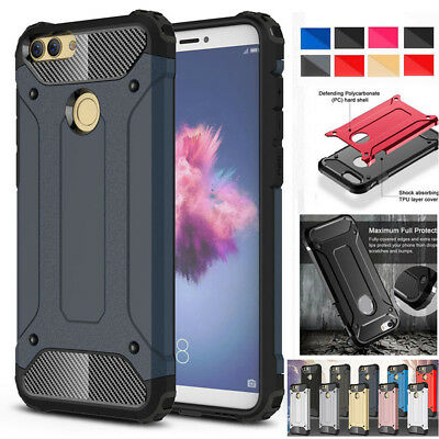 For Huawei P Smart Heavy Duty Shockproof Hybrid Armor Case Rugged Bumper Cover