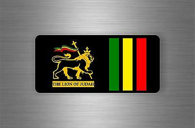 Sticker car rasta jah reggae one love lion flag jamaica ref7