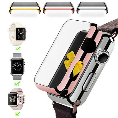 For Apple Watch iWatch 38/42mm Slim Full Body Cover Plating Hard Case Protector