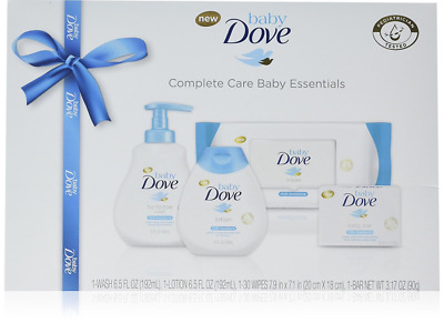 Set of 4 Pieces Baby Dove Complete Care New Born Essentials Toddler Gift Set