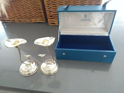 Rare Cooke and Kelvey Indian Colonial Silver Candlesticks (pair)