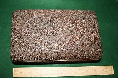 Stunning Early Angloindian Carved Sandalwood Trinket Box