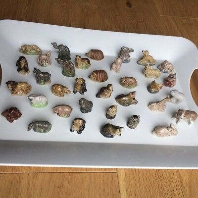 Collectors Set Of 35 Wade Whimsie Figurines Vintage Joblot Bundle