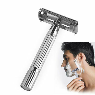 Men Traditional Classic Double Edge Chrome Shaving Safety Razor Portable Outdoor