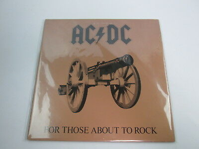 AC/DC For Those About To Rock with OBI Japan VINYL  LP P-11068A