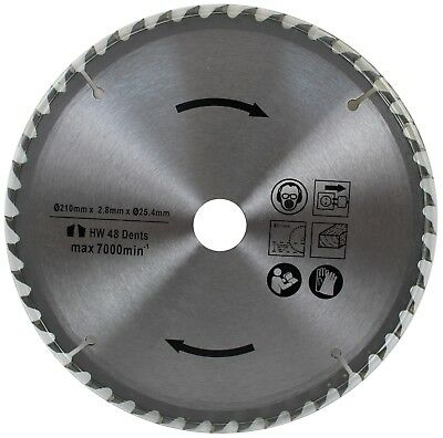 Circular Saw Blade 210mm (25.4mm Bore) - 48 Or 60 Teeth – TCT - Wood Only Cutter