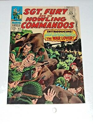 Sgt. Fury And His Howling Commandos #45 comic (VF+) 1969
