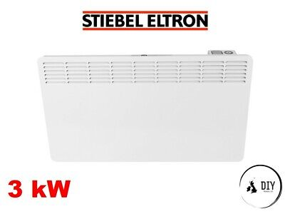 Stiebel 3kw Electric Panel Heater Convector Timer Thermostat 3000w Wall Mounted