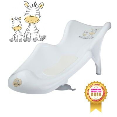 Baby Infant Newborn Toddler Bath Tub Safety Seat Support Chair White Zebra Mat