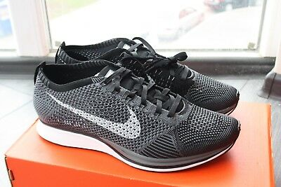 7508537d89bd6 Nike Flyknit racer dark grey ALL SIZE 526628-010 NEW WITH BOX HTM RARE FROM