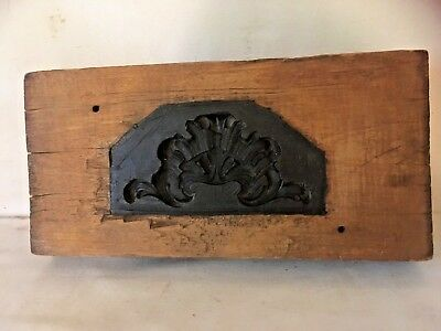 Antique Mold For Ornate Crest Architectural Ornamentation