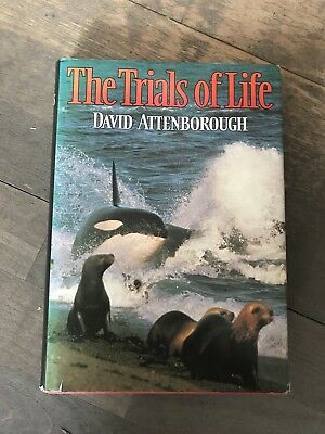 The Trials of Life by Sir David Attenborough (Hardback, 1992)  SIGNED