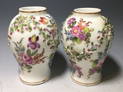 Pair of Antique Porcelain Vases Meissen French