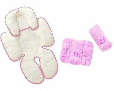 Summer Infant Snuzzler & Cushy Straps - Complete Head & Body Support Set, Pink