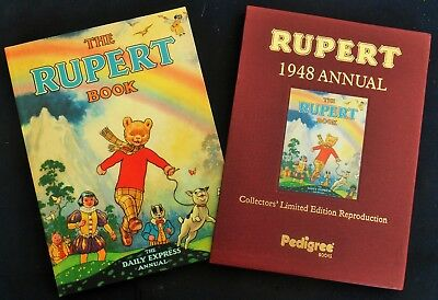 Superb Mint 1948 Rupert Bear Limited Edition Facsimilie Annual With Slip Case