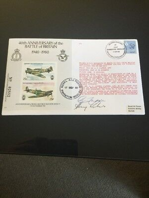 1980 40th Anniversary Of The Battle Of Britain Signed RAF Flight FDC