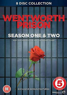 WENTWORTH PRISON the complete season series one 1 & two 2. 8 discs. New DVD.