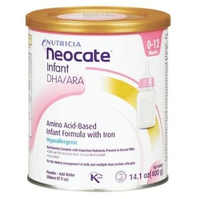 Neocate Infant with DHA and ARA, 14.1 oz / 400 g (Case of 4 cans) Formula