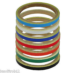 White Reflective 7mm Motorcycle Wheel or Body Stripes Tape