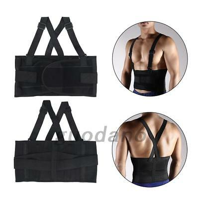 Weight Lifting Belt Waist Back Support Gym Fitness Training Straps Brace New