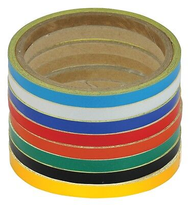 Yellow Gold 7mm Motorcycle Wheel or Body Stripes Tape