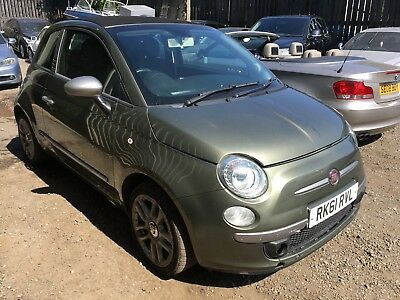 2011 Fiat 500C 1.2 Bydiesel S/s Auto Convertible Non Runner / Spares Or Repair