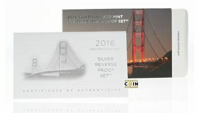 SAN FRANCISCO MINT  2018 SILVER REVERSE PROOF SET Replacement Box COA No Coins